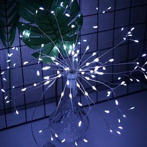 Image 3 - RC זיקוקי LED מחרוזת אורות עמיד למים נחושת חוט פיות אור תליית Starburst נצנץ אור שן הארי עבור Christma בית D23