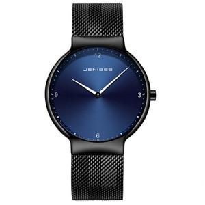 Image 2 - カップルの腕時計の男と女の高級ブランド薄型フルメッシュシンプルなエレガント防水時計のカップルの恋人クォーツビジネス腕時計