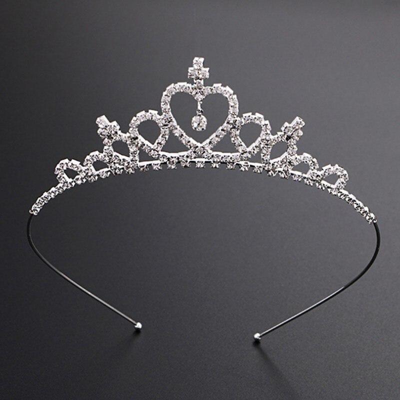 Fashion Baby Girls Rhinestone Princess Crown Headband Tiara Hair Sticks Princess Hairband Hair Accessories Hairband