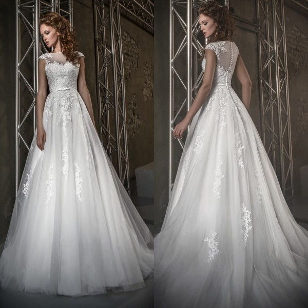 Wholesale Vestido De Noiva Robe De Mariee Cap Sleeve Sleeveless Lace Appliqued Bridal Gown 2018 Mother Of The Bride Dresses