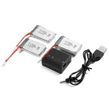 3 pieces 3.7V 800mAh 25C Lipo Battery + 4 in 1 battery charger for Syma X5 x5C X5SC X5SW Quadcopter BC589(China)