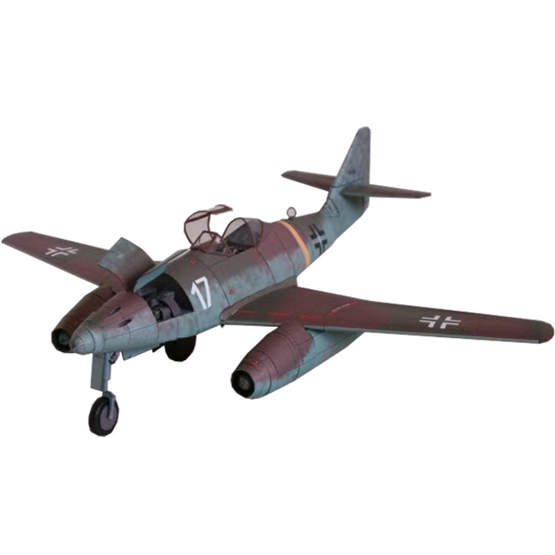 German Me-262 Fighter 1:33 GPM Version DIY 3D Paper Card Model Building Sets Construction Toys Educational Toys Military Model