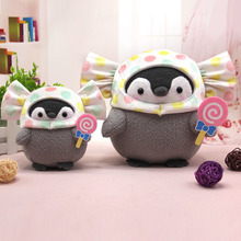 Ins sanrio Japan Hot Style Animal Stuffed Plush Toys Positive Energy Penguin Candy Cap Peluche Doll Pendant for kids Girls Gift