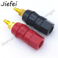 10-100Pcs New high quality Gold Plated High Current Junction Column Power Supply 4MM Terminal Banana Plug Speaker Plug