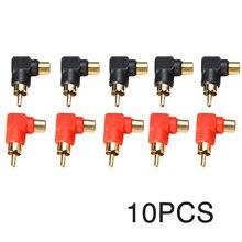 10 шт/компл 90 градусов правый угол разъем аудио переходник