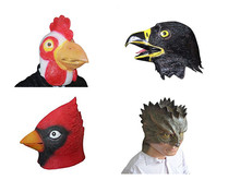 Latex Animal Mask White Rooster Cock lizard Eagle Angry Bird Rubber Masks Kids Party Halloween Costumes Masquerade Supplies