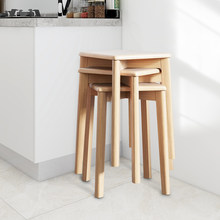 Home Office Chair Dining Furniture Kitchen Solid Wood Chair 4 Legged Stool Multi-purpose Multi-scene Practical Chair Small Bench