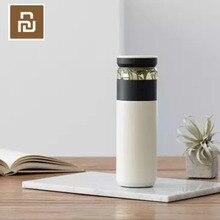 الأصلي Youpin متعة المنزل المحمولة فراغ كوب المياه 520 مللي في الهواء الطلق السفر الشاي فصل المياه زجاجة دافئة 3 في 1 مكتب زجاجة