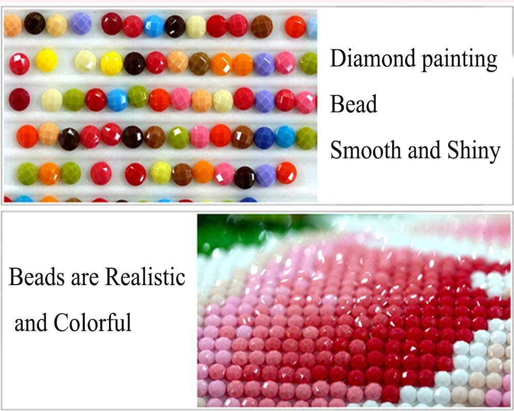 5D Diamond Painting Art Dotz Paint by Numbers Full Drill Kits Supplies for Adults Kids Beginners for Home Wall Decoration