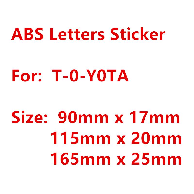 3D ABS хромированный Серебряный автомобильный значок наклейка буквы маркировка для Toyota задний багажник автостайлинг стикер Логотип наклейки эмблема аксессуары