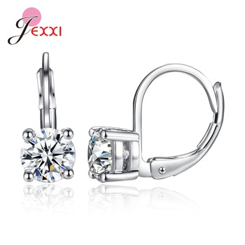 Hot Sale Women Girls Small Austria Crystal Earrings White Pink Red Zirconia Silver Hoop Huggie Earrings.jpg 350x350 - Hot Sale Women Girls Small Austria Crystal Earrings White Pink Red Zirconia Silver Hoop Huggie Earrings Pendientes Jewelry