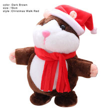 High Quality Talking Pet Scarf Hamster Toy Electronic Plush Noding Sound Recording Doll Kids Christmas Gifts(China)