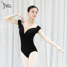 2020 Brand Ballet Practice Clothes Adult Female Gymnastics Suit Butterfly Collar Ballet Training Clothes Slim Fit Yoga Bodysuits