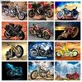 Рукоделие, Алмазная мозаика, цветная краска для мотоцикла, стразы, абстрактное искусство, полностью квадратные круглые стразы, 3d Алмазная в...