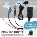 Adaptador de cabo bluetooth áudio do carro sem fio microfone aux leitor música handsfree para alpine cd host KCE-236B 9870/9872