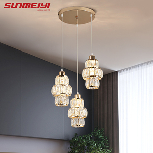 Image 3 - Nordic LED Pendant Lights Crystal Gold Hanging Lamp For Dining Table Bar Kitchen Living room lampada industrial Modern Light