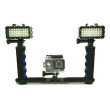 Lámpara de luz LED de buceo impermeable, soporte de Stents de mano para GoPro Hero 5, 9, 7, 8, Xiaomi Yi 4K, Sjcam SJ6/8/9, EKEN, H9R, nueva
