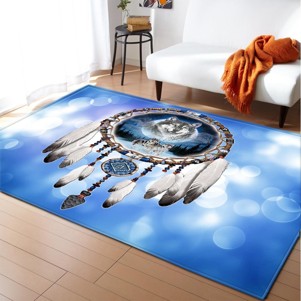Dreamcatcher Large Carpet for Bedroom Decoration Bohemian Mandala Floor Anti slip Mat Home Big Area Rug Tapetes for Living Room Carpet  - AliExpress