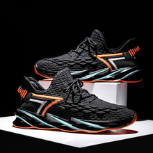 Casual Shoes  Light Weight Running Shoes Men Spring Autumn Breathable Sneakers  Men Outdoor Walking Sneakers Black Sports Shoes li ning men s running shoes cushioning breathable lining light weight sneakers sports shoes li ning arbm031