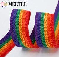 20Meter Meetee 20-50mm PP Gurtband Rucksack Pet Strap Band Polyester Band Band für Gepäck Gürtel Taschen griffe DIY Teil Zubehör