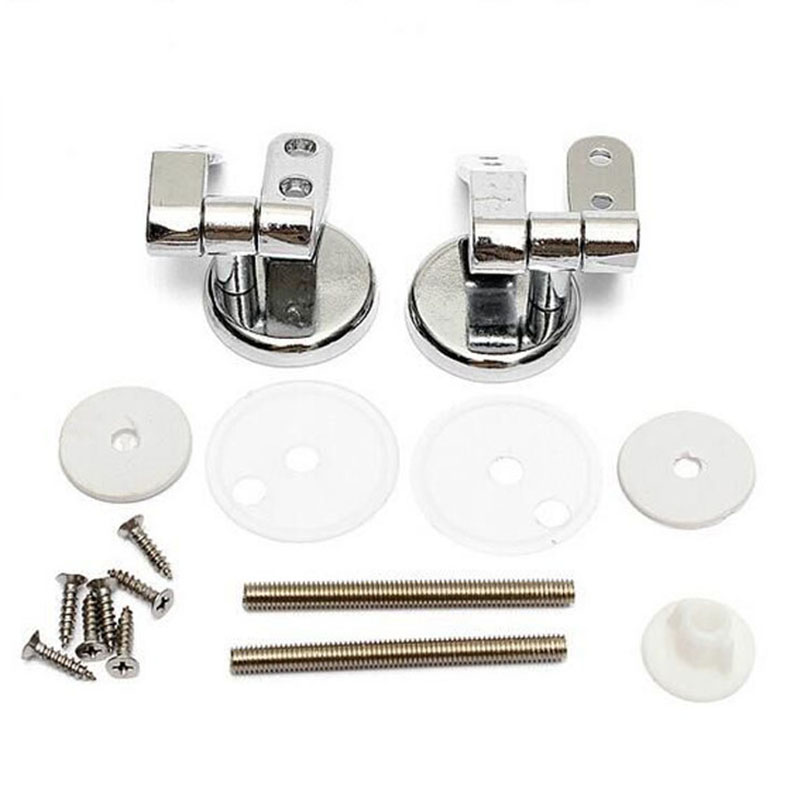 Chrome Replacement Toilet Seat Hinges Hinges With Fittings Spare Parts