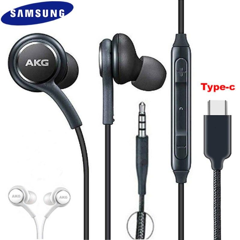 Samsung akg eo ig955 fones de ouvido, fone de ouvido com fio 3.5mm/tipo c, para galaxy s20 s20 + s20 ultra note 10 + s10 s9 s8 s7 + a8s