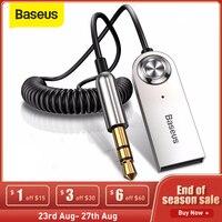 Baseus BA01 USB Bluetooth Empfänger Bluetooth Sender 5,0 Auto AUX 3,5mm Bluetooth Adapter Audio Kabel Für Speakerx Kopfhörer