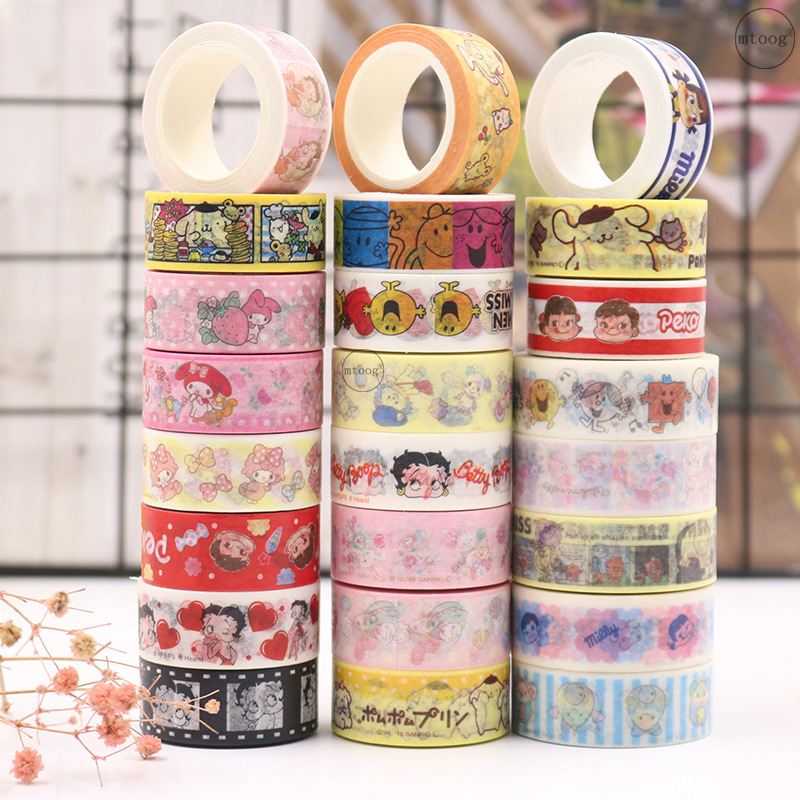 1set/1lot Washi Masking Tapes Cartoon Girl Series Decorative Adhesive Scrapbooking DIY Paper Japanese Stickers 5M