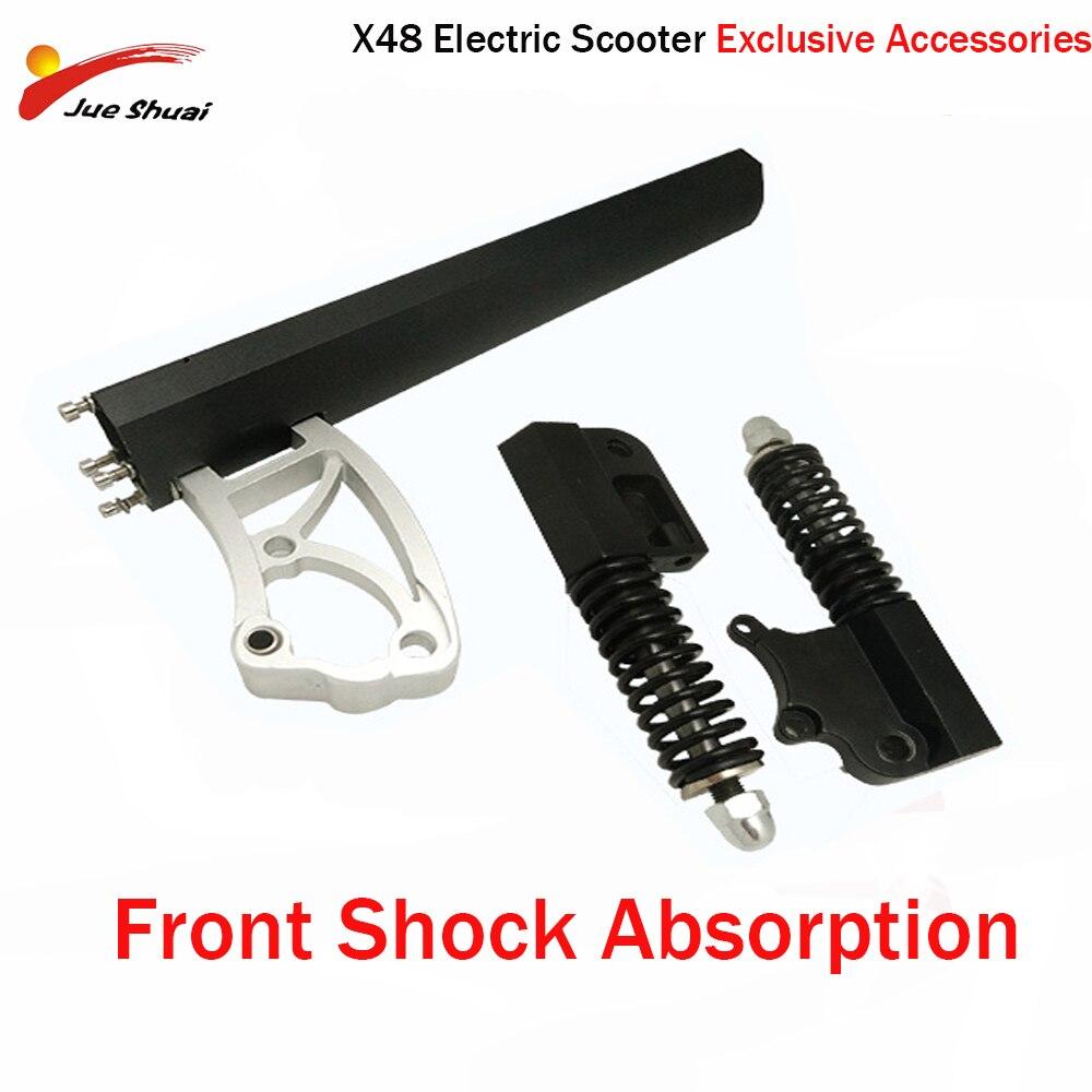 Absorção de choque frontal de x48 scooter elétrico triplo absorção de choque aumenta amortecimento força 10 polegadas e scooter acessórios