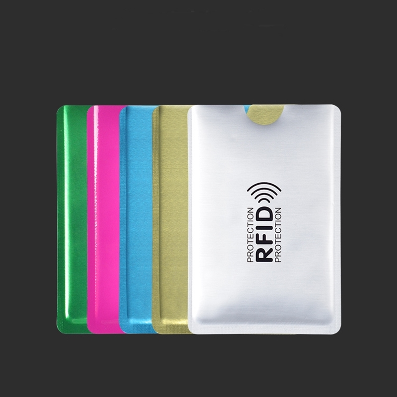 Anti Rfid Colorful Card Holder NFC Blocking Reader Lock Id Bank Card Holder Case Protection Metal Credit Card Case
