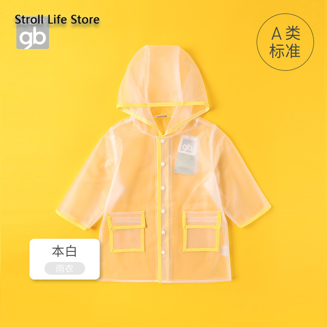 Kids Clear Raincoat Yellow Long Children Rain Coat Transparent Waterproof Poncho Rain Jacket Kids Capa De Chuva Birthday Gift 4