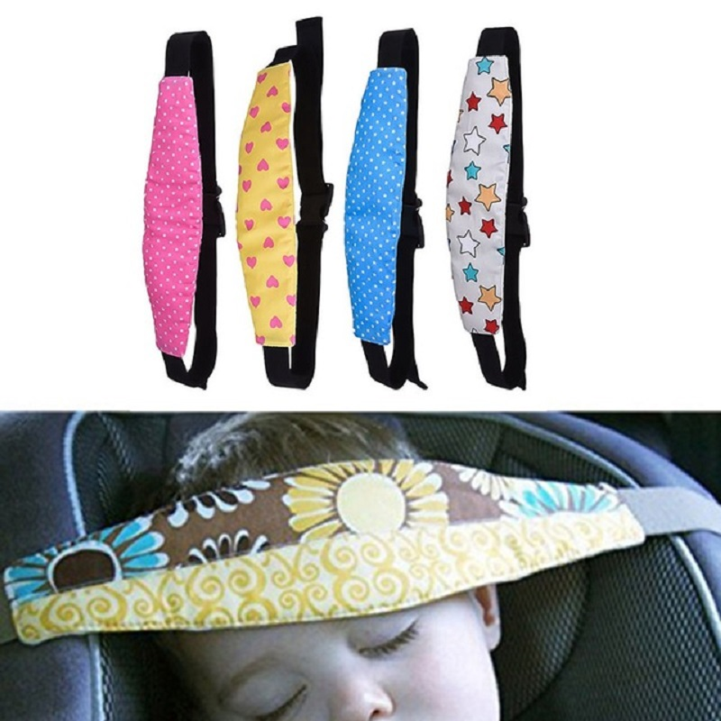 Baby Car Safety Belt Auto Seat Belts Sleep Aid Head Support For Kids Toddler Car Seat Travel Sleep Aid Head Strap image