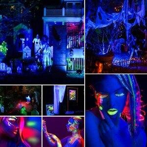 Image 5 - Aimkeeg 18 LED UV oświetlenie urządzenia do wytwarzania efektów świetlnych profesjonalne oświetlenie sceny Disco projektor dla dj a maszyna do Party z bezprzewodowego pilota zdalnego sterowania