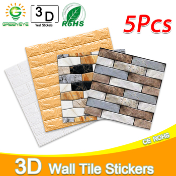 Wall paper 3D Marble Mosaic Peel and Self-adhesive Stickers Waterproof for Kitchen Bathroom Home Decal Sticker Vinyl