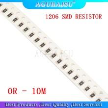 100Pcs 1206 SMD resistor 0R - 10M 1/2W 0 1 1 10 100 150 220 330 470 ohm K 2.2K K 100K 200K 0R 10 1R 10R 100R 200R 220R 330R 470R