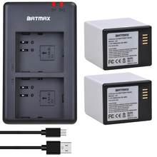 2Pcs 7,2 V 3660mAh Batterie + Dual USB Ladegerät für Arlo GEHEN