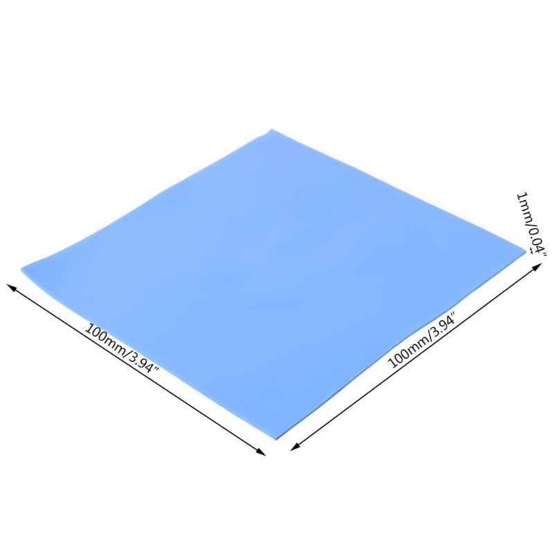 1Sheet 100x100x1mm/100x100x3mm Thermal Conductivity CPU Heatsink Cooling Conductive Silicone Pad Thermal Pad For PC Computer C26