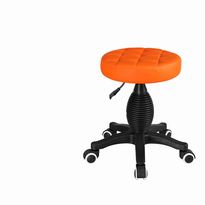 New Arrival  Round Barbar Chair Beauty Stool Pulley Work Chair Rotary Portable 44-60cm Lifting Makeup Chair Beauty Chair