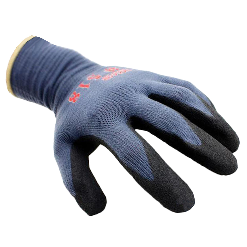 Grey Chemical Resistant Heavy Duty Nitrile Rubber Safety Gloves For Acid Oil