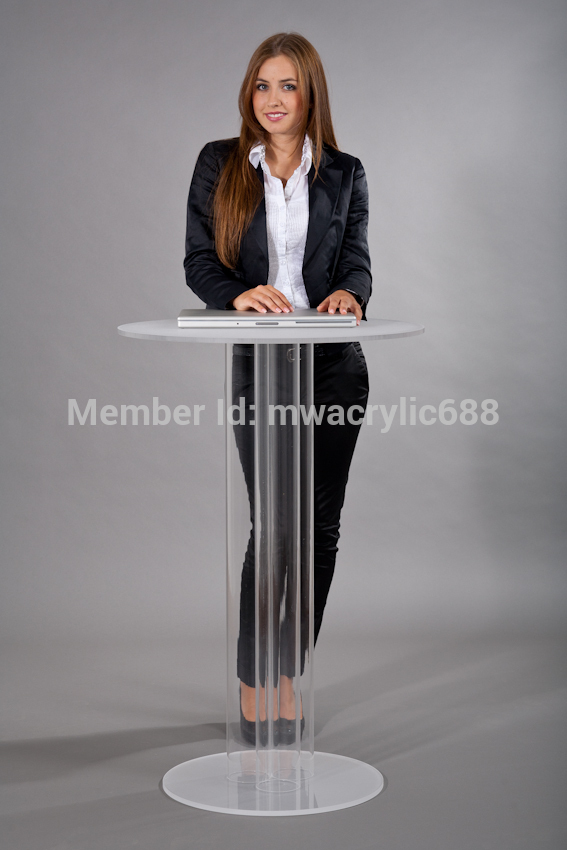 Free Shipping Transparent Modern Design Simple Cheap Clear Acrylic Lectern Podium Plexiglass