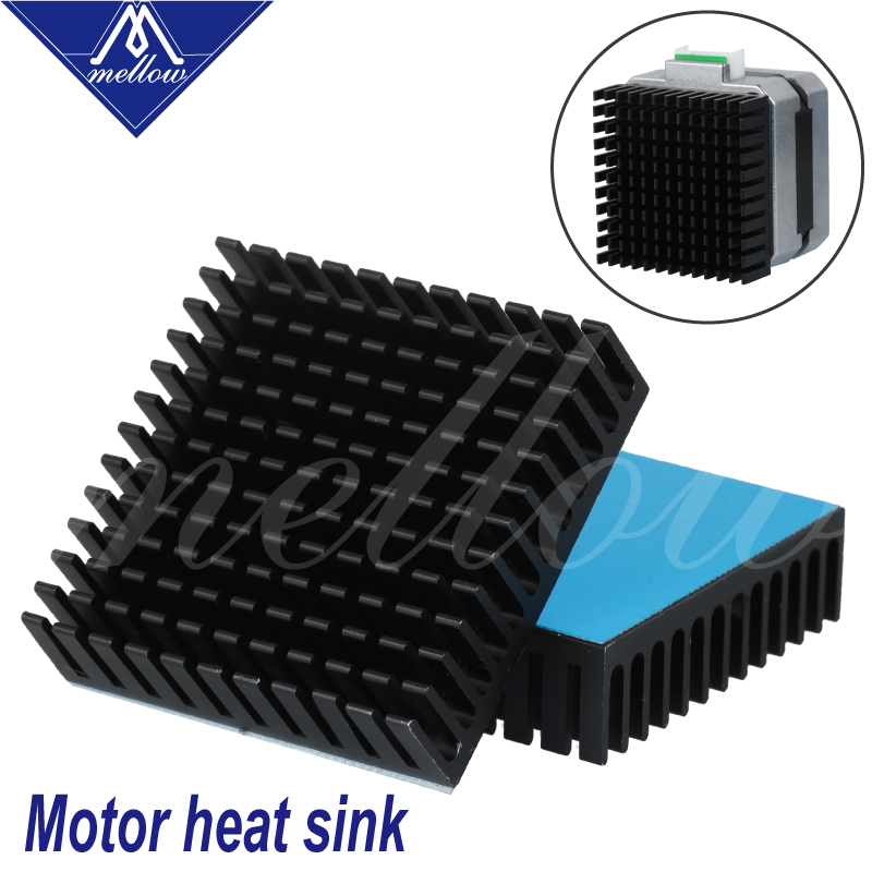 Mellow 3D Printer Aluminum Motor Heatsink Extruded Heat Dissipation Electronic Heat Sink For Nema17