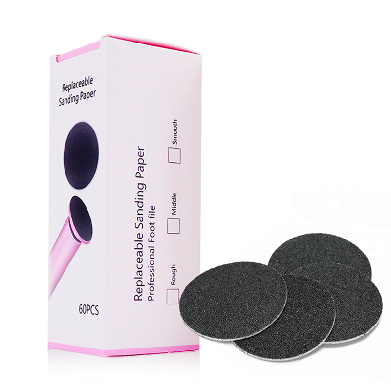 60 Pieces Replacement Sandpaper Disk Sanding Paper Accessory For Electric Foot Callus Remover Tool Pedicure Foot File 60PCS/Box