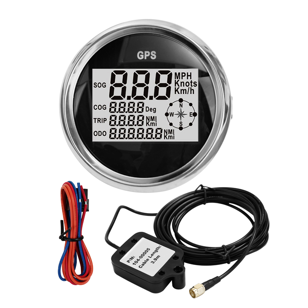 IP65 Waterproof LCD Digital Display Speedometer with Backlight 85MM Motorcycle Car Boat Speedometers Odometer image