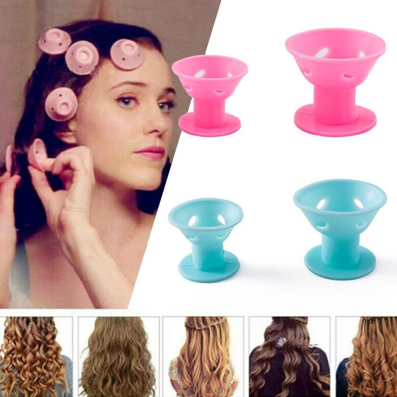 10pcs Magic Hair Care Rollers For Mushroom Curlers Sleeping No Heat Soft Rubber Silicone Hair Curler Twist Hair Styling Diy Tool