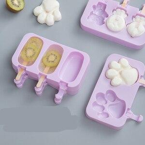 Новая силиконовая форма для мороженого, форма для мороженого, сделай сам, домашняя мультяшная форма для мороженого, форма для мороженого, со...