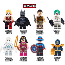 Single Sale Building Blocks Thanos Woderwoman Harley Quinn Batman Joker Super Heroes Bricks Education Toys For Children WM6014 pogo harley quinn figure single sale xinh 257 building blocks dc batman superhero models kids toys for children