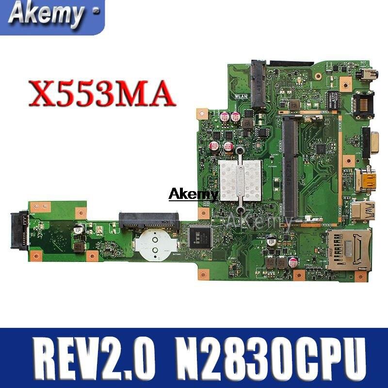 Amazoon REV2.0 X553MA Com N2830CPU mainboard Para ASUS F503M X503M F553MA X503MA D503M X553MA Laptop motherboard Testado Trabalho