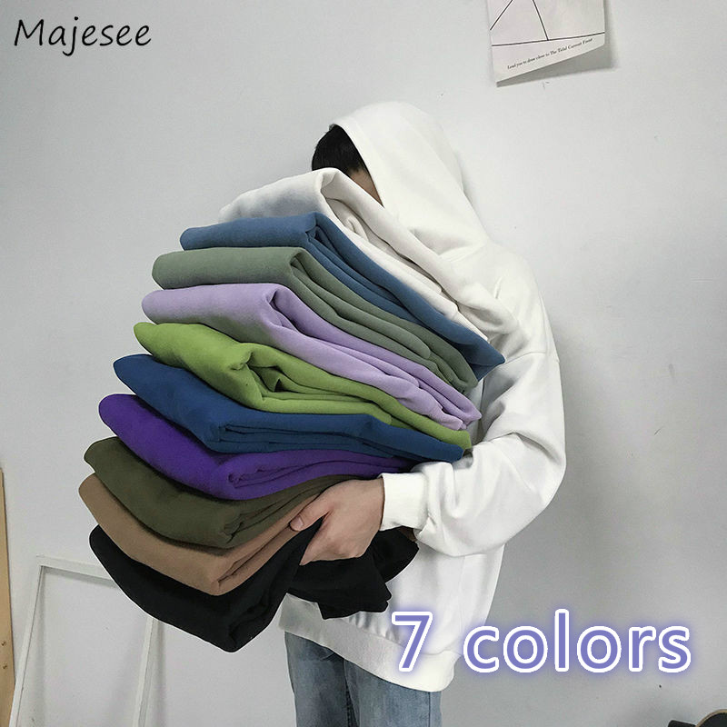Hoodies Sweatshirt Men Velvet Thickening Mens Pullover Plus Size 4XL Couples Daily All-match Loose Comfortable High Quality Chic