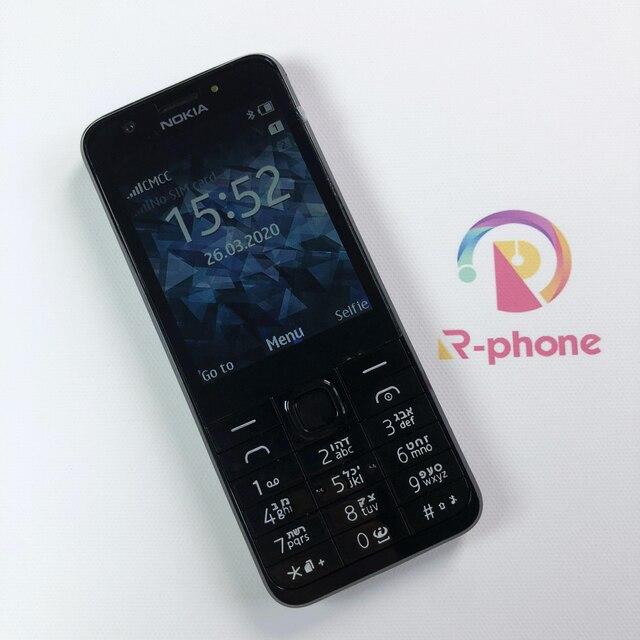 잠금 해제 원래 노키아 230 단일 듀얼 Sim 휴대 전화 GSM 좋은 품질 단장 한 핸드폰 & 히브리어 아랍어 러시아어 키보드