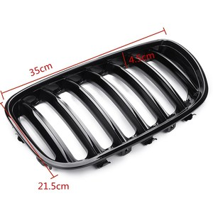 Image 5 - 2Pcs Gloss Black Car Front Kidney Grill Grilles Right & Left for BMW X5 E53 2004 2005 2006 ABS 51137124815 51137124816